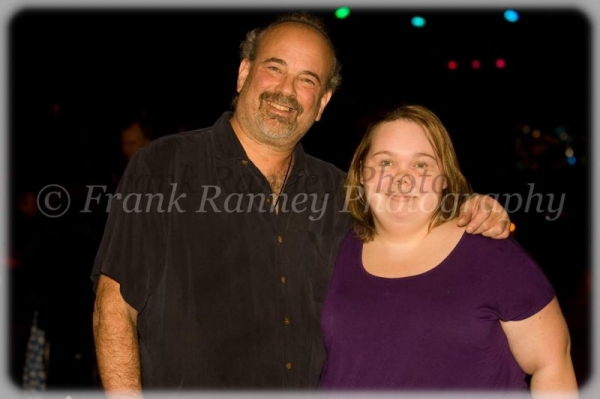 A professional picture of rick metz [a very well known saxophone player who heads a jazz band and radio station in reno] and myself.