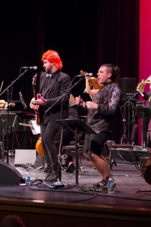 Performing the music of David Bowie with the Seattle Rock Orchestra, December 2016.