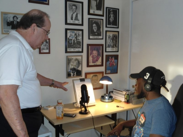 Bill covers last minute instructions for a student's voice over narration.