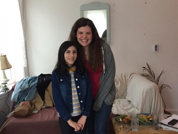On the set of a short film with my co-star!