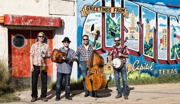 Max (second from the left) & Hot Pickin Bluegrass