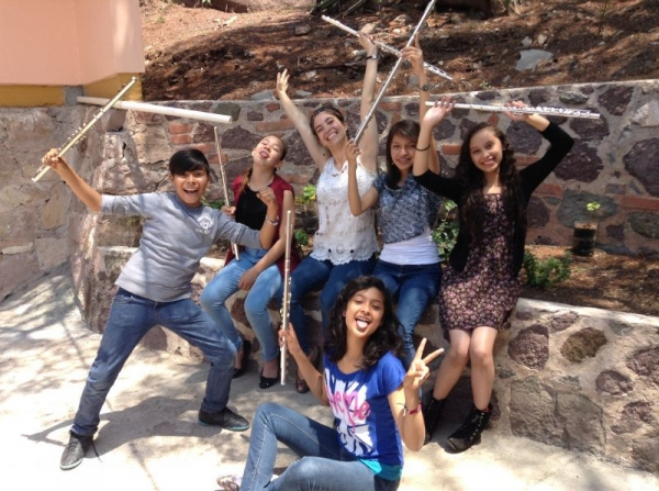 With some students in Guanajuato, Mexico