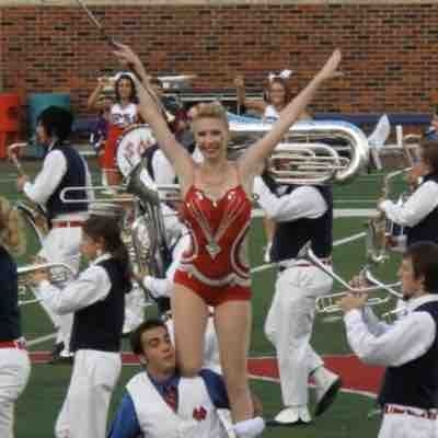 Performing with the SMU Drum Major