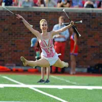 Leaping my heart out at and SMU Football game