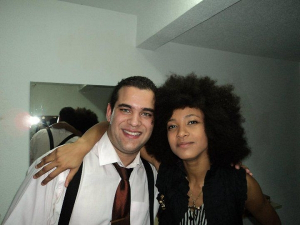 With Esperanza Spalding,incredible musician ,Cartagena Jazz Festival,Spain 2010