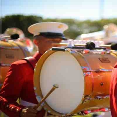 "Performing with ""The Commandant's Own"" United States Marine Drum and Bugle Corps in 2017"