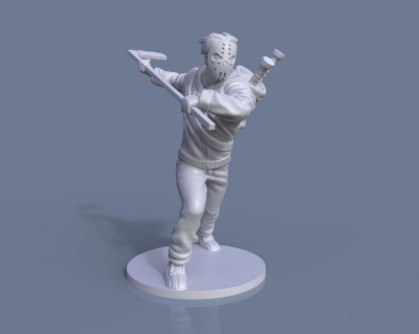 Casey Jones Sculpt I did for the TMNT board game by IDW games, 