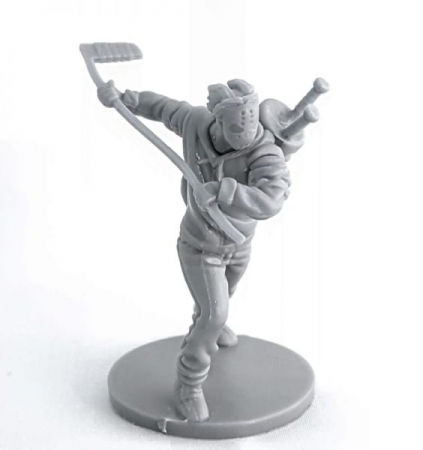 Physical Casey Jones game piece that comes with the TMNT boardgame