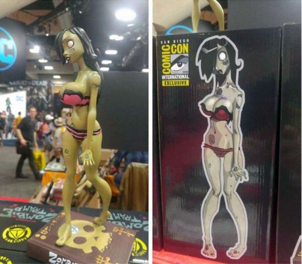 Physical Manufactured version of my sculpt for the Official Zombie Tramp Collectible.