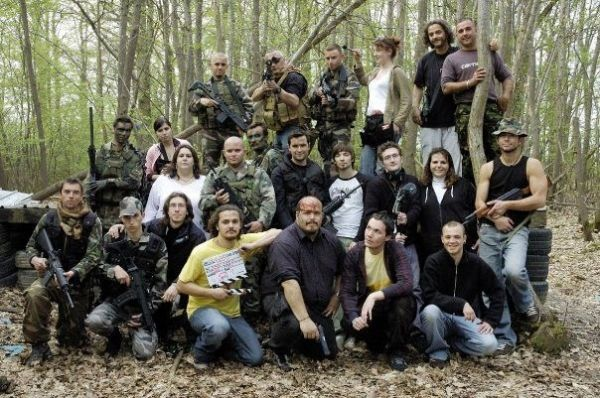 "Movie team for ""Mission Avortée"", French short movie"
