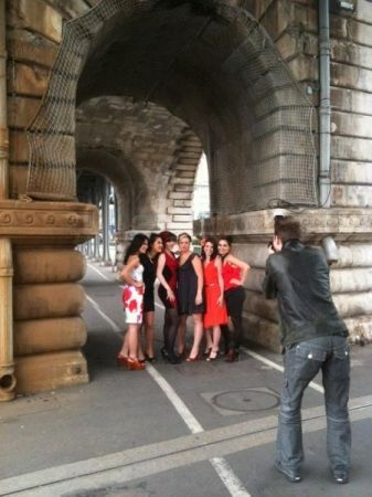 At work on a fashion photoshoot in Paris, France.