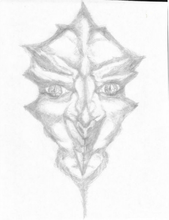 Original Hand Drawn Sketch of comic book character creation Gria by Samantha Glover