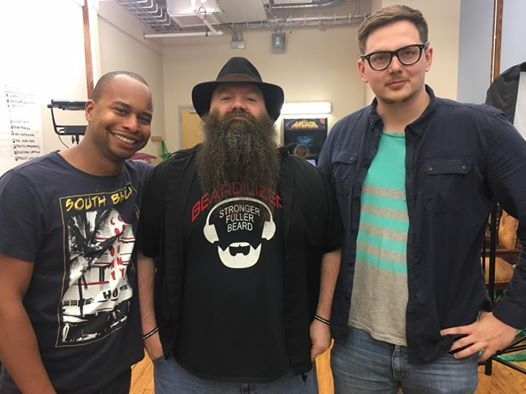 "The Cast for the Indie Film ""The Bearderlizer Beard Power""."