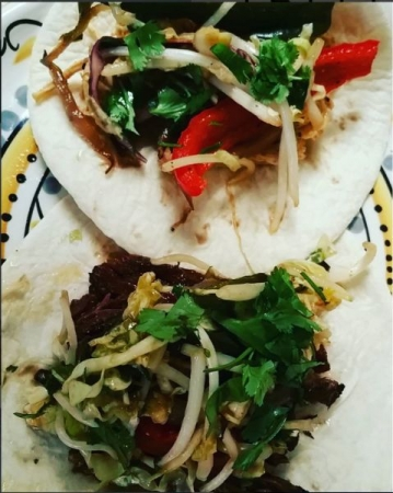 Beef and Chicken Korean Street Tacos
