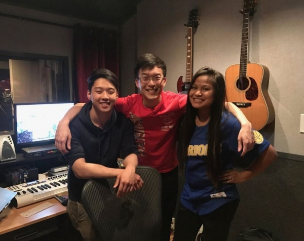 Vocal producing and coaching an emerging artist in the studio!