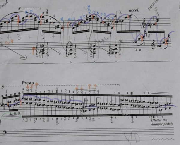 Un Sospiro, Liszt's third concert etude for piano.
