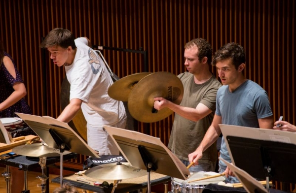 Playing snare as a member of the 2014 National Orchestral Institute Orchestra