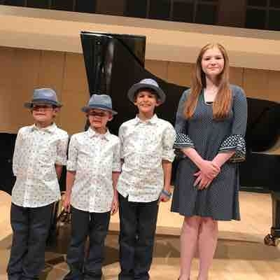 Students eligible to perform in the Honors Recital at Lone Star University. Superior Plus Winners.