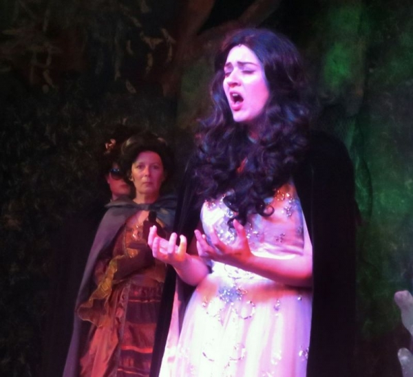"""Roxanne performing as the Witch in a community theatre production of """"Into The Woods."""""""