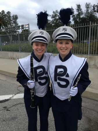 Marching in the Rose Bowl Parade with the Penn State Blue Band (Winter 2017)