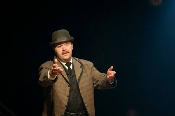 Jacob Voigt in the NYC production of the musical Ragtime.