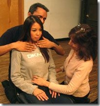 Voice and Body Work with two of my students.