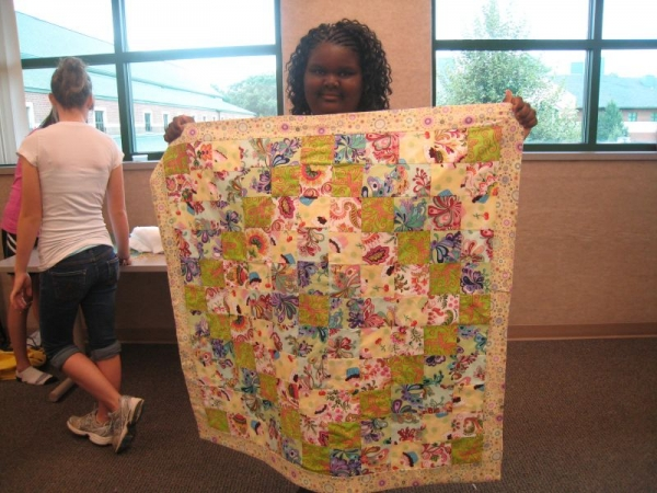 Trip Around the World - student quilt