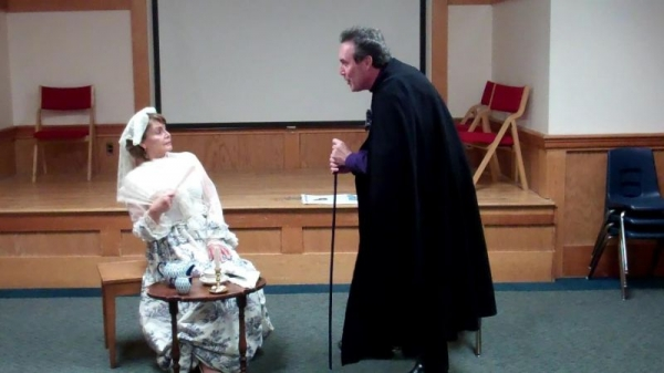 Acting students in a class scene.