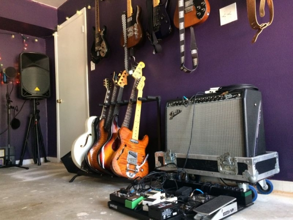 Studio / Lesson Space - Students can try out a variety of guitars during their lesson time!