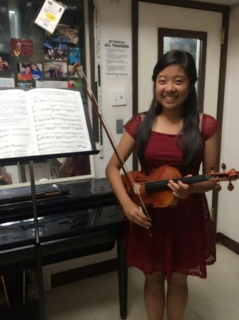 Former student Phoebe Lin, Gabrielino High School concertmaster, 2013-2016