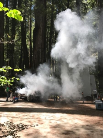 On a shoot yesterday for a National Commercial in the middle of a National Forest. Well, what would it be without fog.