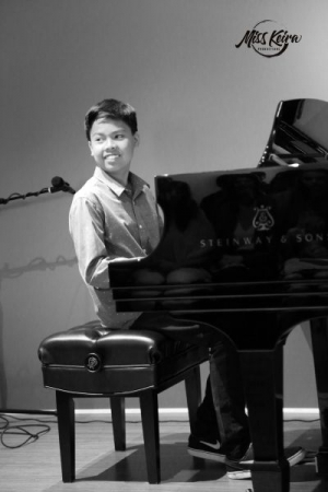 Jerald has studied piano with Miss Keira for four years.