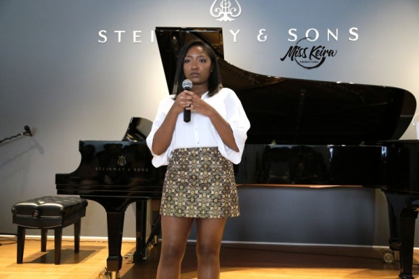 Voice student Ayanna, performing At Last by Etta James at The Steinway and Sons Piano Gallery of Beverly Hills