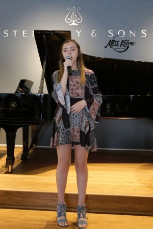 Voice student Alexandra, performing Gravity by Sara Bareilles at The Steinway and Sons Piano Gallery of Beverly Hills