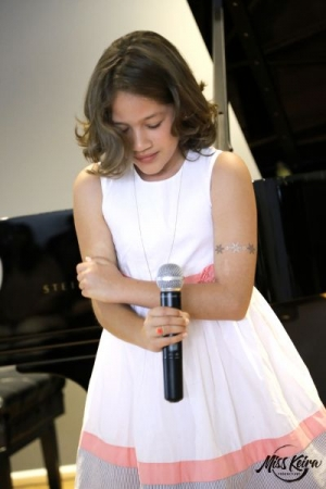 Voice student Camila, performing Perfect by P!nk at The Steinway and Sons Piano Gallery of Beverly Hills