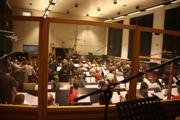 Recording and conducting in Prague