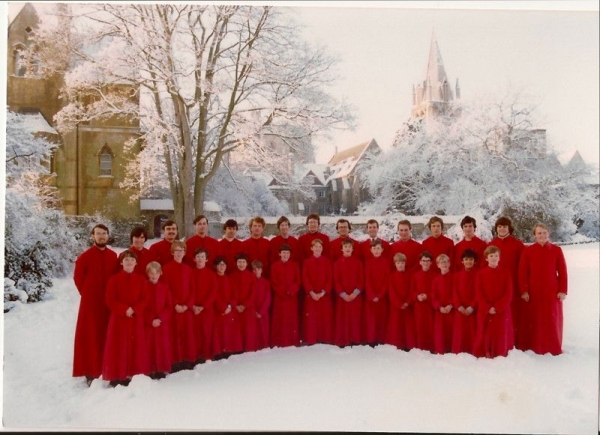 From my days in the Christ Church Cathedral Choir, a photo for an album of Christmas music. I'm 6 in from the right, front row.