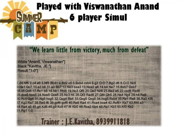 Played with Viswanathan Anand!