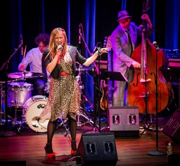 Performing at the Smith Center in Las Vegas with Lucy Woodward
