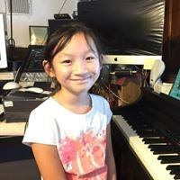 Piano and voice lesson in the studio