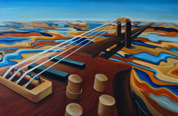 """Sound Bridge"" 24 X 36 (Oil on Canvas) 2012"