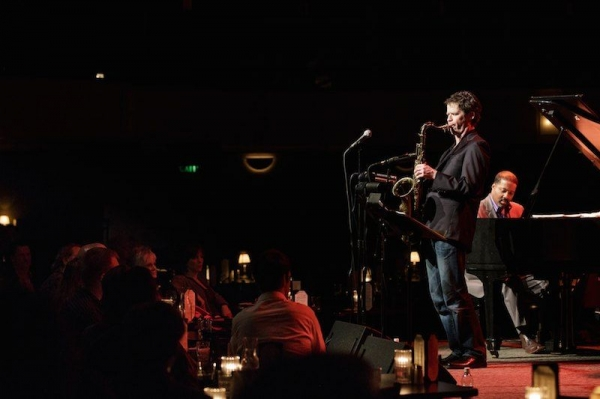 Anton with Eric Reed at Jazz Alley, Seattle.