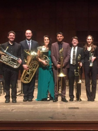 Group photo after performing as a guest soloist with the CCM Brass Choir.