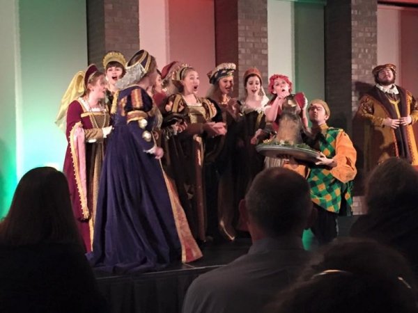 Singing at the 60th Annual Madrigal Dinners at ISU!