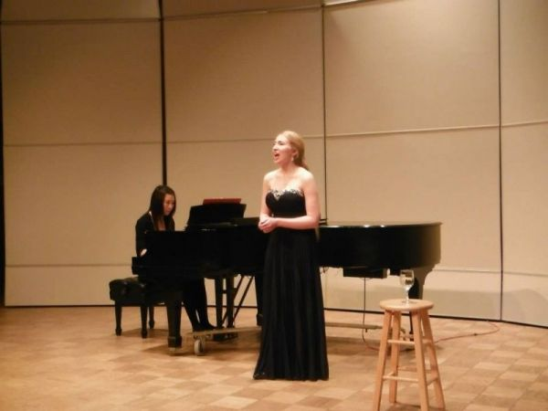Singing at my junior recital!