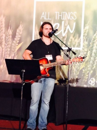 Leading worship at a YFC conference