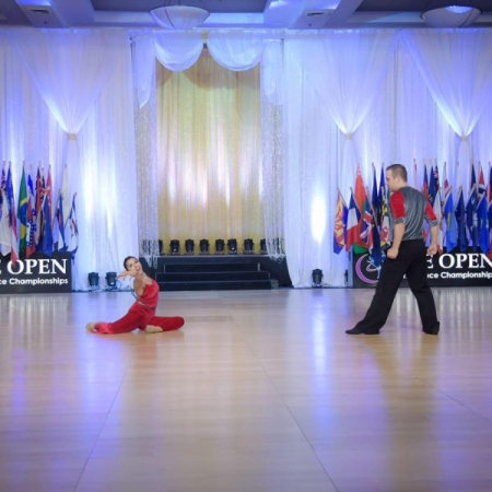 Our ending pose at the US Open Swing dance championships.