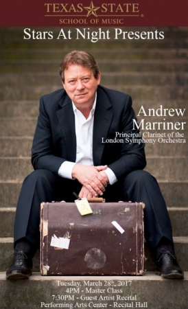 Created advertisement for the guest performance of Andrew Marriner, principal clarinetist of the London Symphony Orchestra! - March 2017
