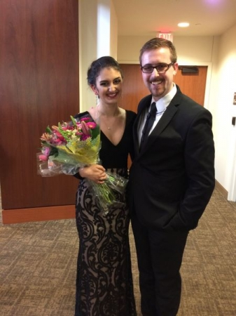"A true pleasure to collaborate and perform with an amazingly talented vocalist on her senior recital. ""Shephard on the Rock"""