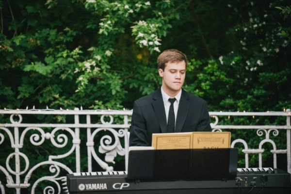 Here I am playing for a wedding - of two of my best friends! I had such a blast.